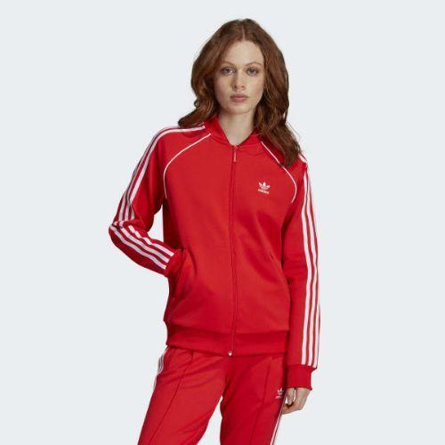 (取寄)アディダス オリジナルス レディース V デイ SST トラック ジャケット adidas originals Women V-Day SST Track Jacket Active Red