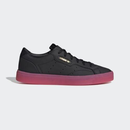 (取寄)アディダス オリジナルス レディース アディダス スリーク スニーカー adidas originals Women adidas Sleek Shoes Core Black / Core Black / Super Pink, ワールドデポ 22e1e623
