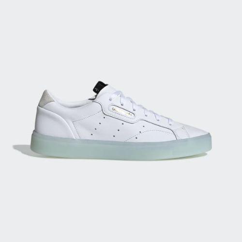 (取寄)アディダス オリジナルス レディース アディダス スリーク スニーカー adidas originals Women adidas Sleek Shoes Cloud White / Cloud White / Ice Mint, アルファ 3ab8e435