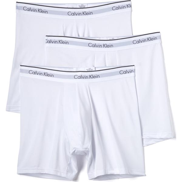 (取寄)カルバンクライン アンダーウェア マイクロファイバー ボクサー ブリーフ Calvin Klein Underwear Microfiber Boxer Briefs White