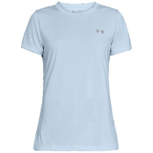 (取寄)アンダーアーマー レディース テック ショート スリーブ Tシャツ Underarmour Women's Tech Short Sleeve T-Shirt Coded Blue