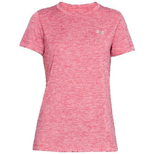 (取寄)アンダーアーマー レディース テック ショート スリーブ Tシャツ Underarmour Women's Tech Short Sleeve T-Shirt Impulse Pink