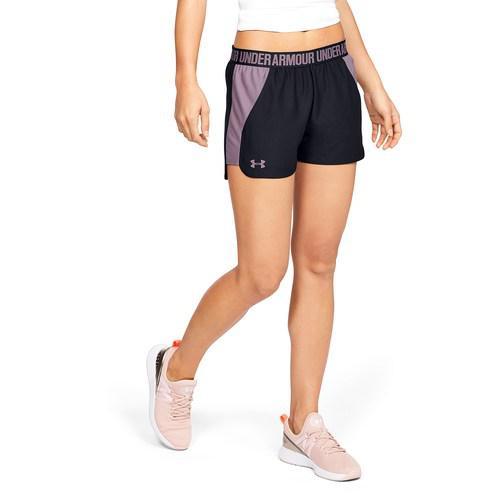 (取寄)アンダーアーマー レディース プレイ アップ ショーツ 2.0 Underarmour Women's Play Up Shorts 2.0 Black Purple Prime