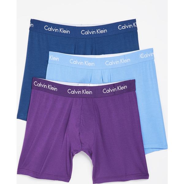 (取寄)カルバンクライン アンダーウェア 3 パック ボディ モーダル ボクサー ブリーフ Calvin Klein Underwear 3 Pack Body Modal Boxer Briefs Airforce Mulberry Provence