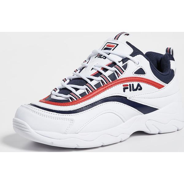 (取寄)フィラ レイ スニーカー FILA Ray Sneakers White Navy Red