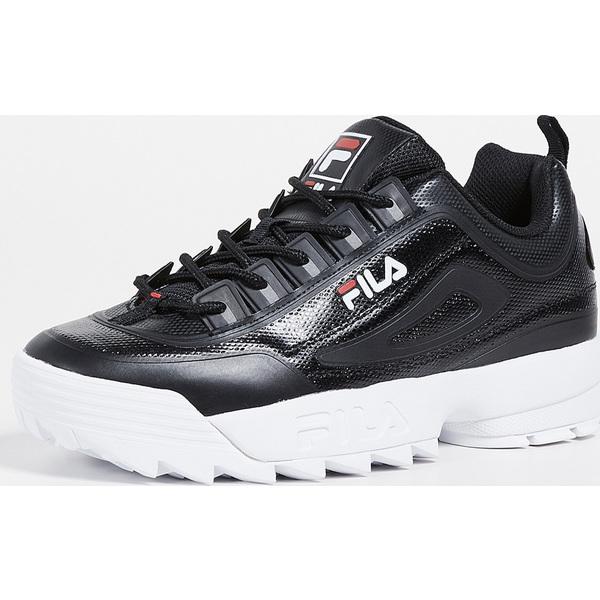 (取寄)フィラ ディスラプター 2 スニーカー FILA Disruptor II Sneakers Black Red White