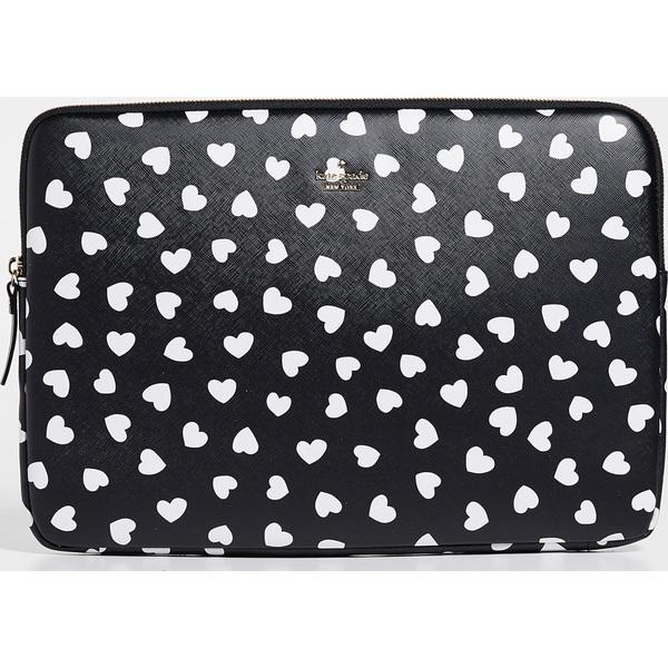【クーポンで最大2000円OFF】(取寄)ケイトスペード ハートビート ユニバーサル ラップトップ スリーブ Kate Spade New York Heartbeat Universal Laptop Sleeve Black Cream