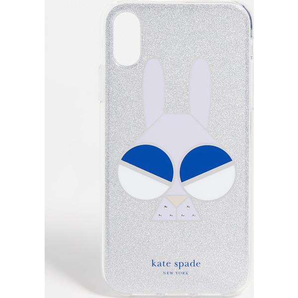 (取寄)ケイトスペード グリッター マネー バニー アイフォン  XR ケース Kate Spade New York Glitter Money Bunny iPhone XR Case SilverMulti