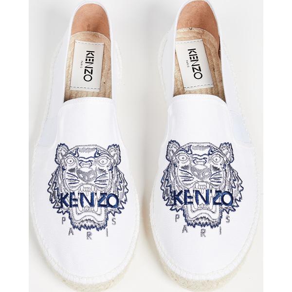 (取寄)ケンゾー タイガー エスパドリーユ KENZO Tiger Espadrilles White