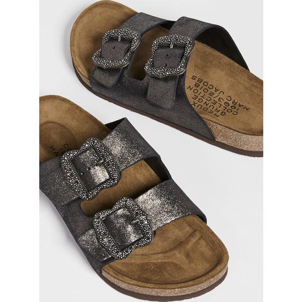 (取寄)マークジェイコブス レディース グランジ トゥー ストラップ サンダル Marc Jacobs Women's Grunge Two Strap Sandals DarkSilver
