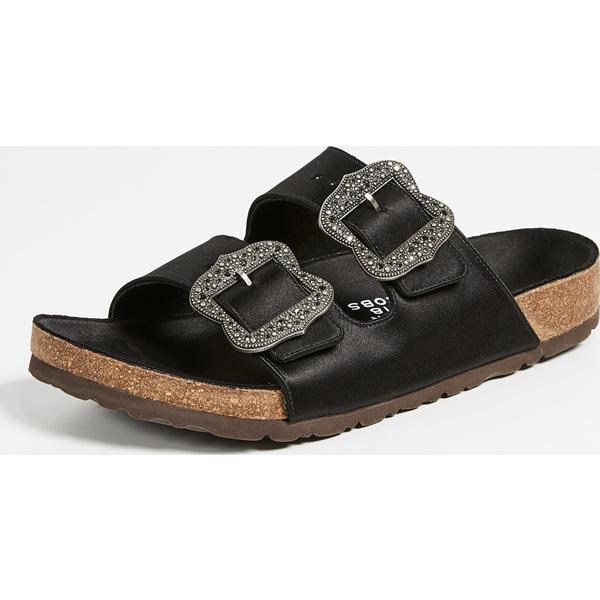 (取寄)マークジェイコブス レディース グランジ トゥー ストラップ サンダル Marc Jacobs Women's Grunge Two Strap Sandals Black