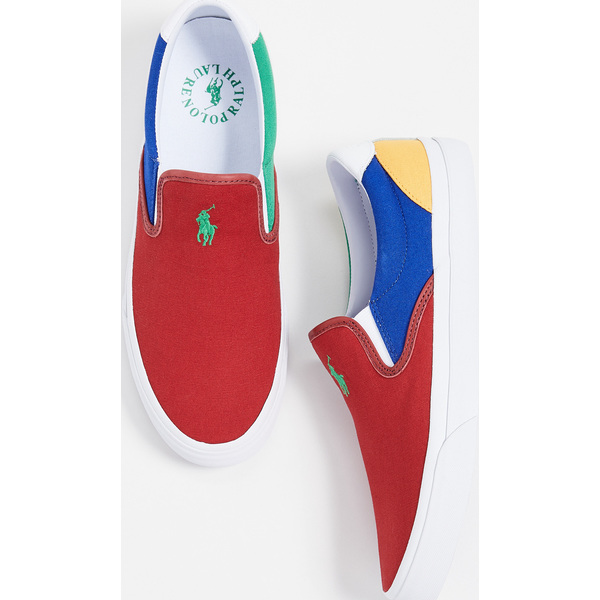 (取寄)ポロ ラルフローレン トンプソン スリップ オンズ Polo Ralph Lauren Thompson Slip Ons Multi
