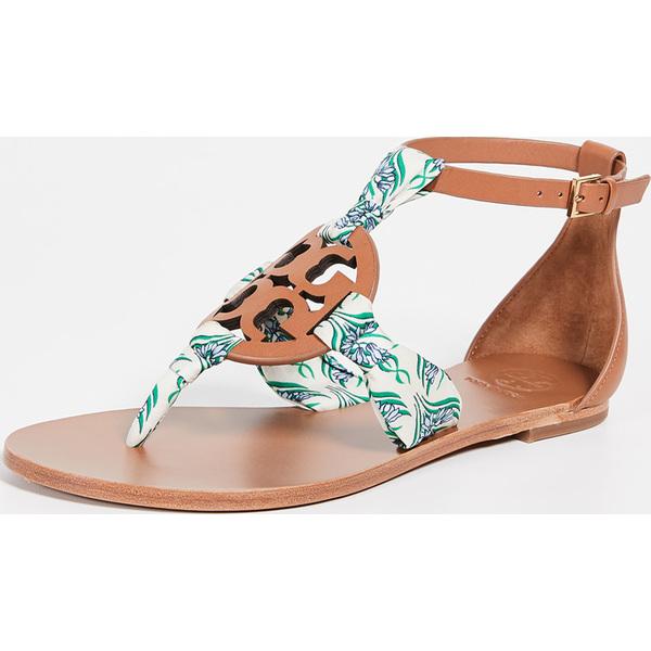 (取寄)トリーバーチ レディース ミラー スカーフ サンダル Tory Burch Women's Miller Scarf Sandals Tan BlueMeridian