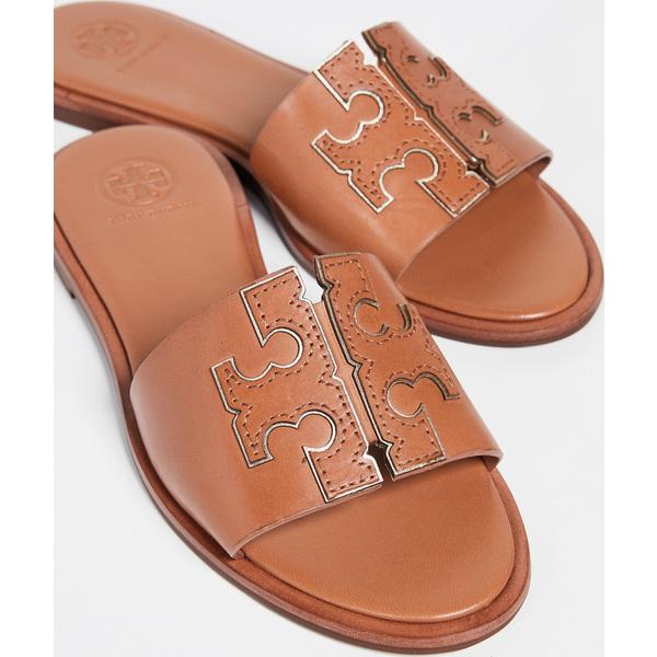 (取寄)トリーバーチ レディース アイネス スライド サンダル Tory Burch Women's Ines Slide Sandals Tan SparkGold