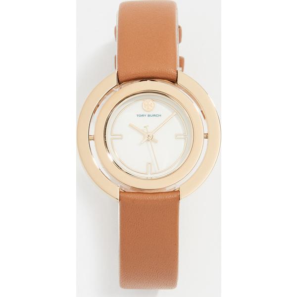 【クーポンで最大2000円OFF】(取寄)トリーバーチ グリアー レザー ウォッチ 34mm Tory Burch Grier Leather Watch, 34mm Gold Brown