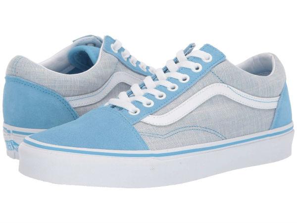 (取寄)Vans(バンズ) スニーカー オールド スクール ユニセックス メンズ レディース Vans Unisex Old Skool (Chambray) Alaskan Blue/True White