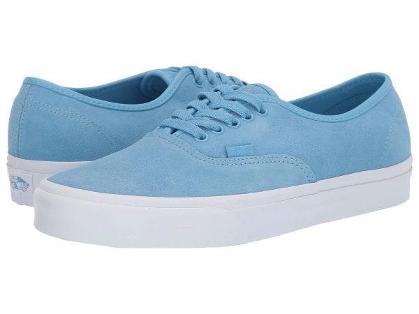 (取寄)Vans(バンズ) スニーカー オーセンティック ユニセックス メンズ レディース Vans Unisex Authentic (Soft Suede) Alaskan Blue/True White