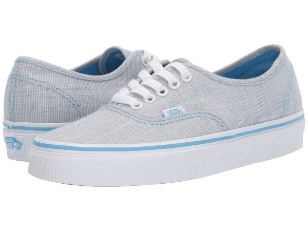 (取寄)Vans(バンズ) スニーカー オーセンティック ユニセックス メンズ レディース Vans Unisex Authentic (Chambray) Alaskan Blue/True White