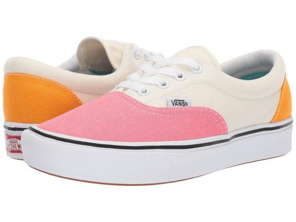 (取寄)Vans(バンズ) スニーカー コンフィクッシュ エラ ユニセックス メンズ レディース Vans Unisex ComfyCush Era (Canvas) Strawberry Pink/Zinnia/True White