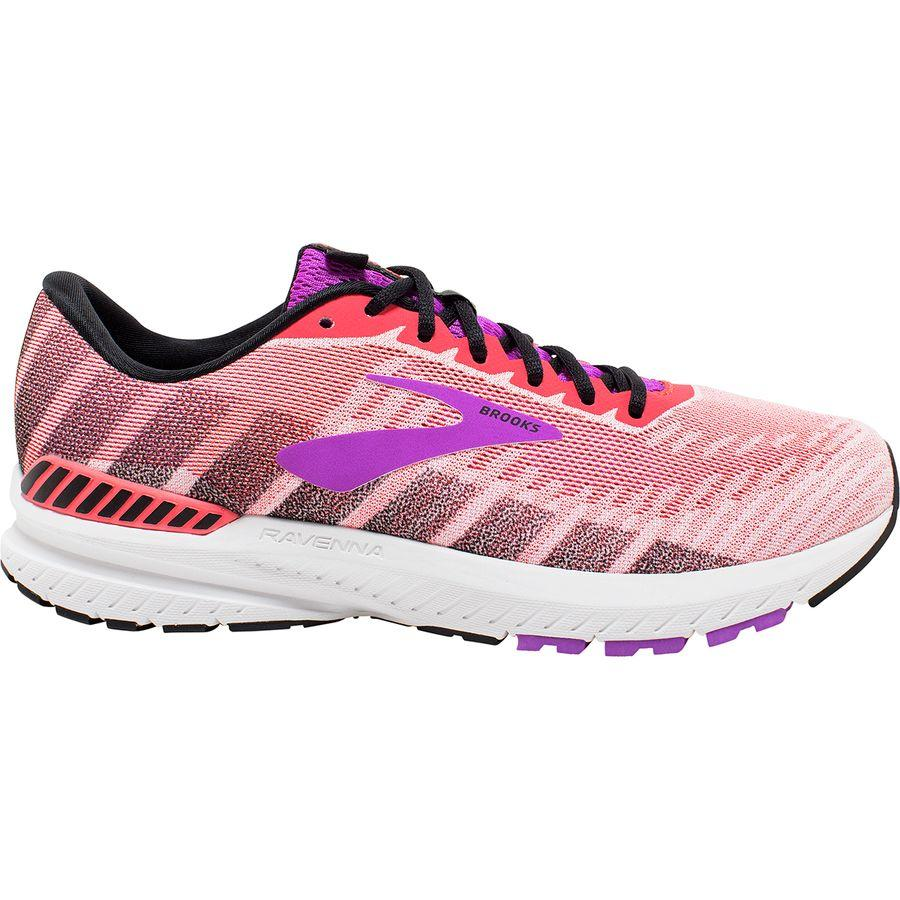 【クーポンで最大2000円OFF】(取寄)ブルックス レディース ラヴェンナ 10 ランニングシューズ Brooks Women Ravenna 10 Running Shoe Coral/Purple/Black