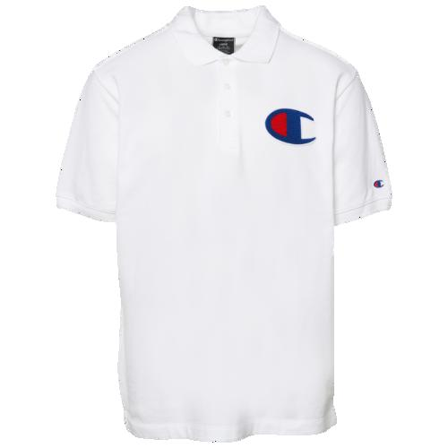(取寄)チャンピオン メンズ シュニール C ポロ Champion Men's Chenille C Polo White