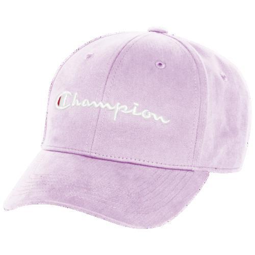 (取寄)チャンピオン メンズ クラシック ツイル スクリプト ハット - アダルト Champion Men's Classic Twill Script Hat - Adult Pale Violet Rose