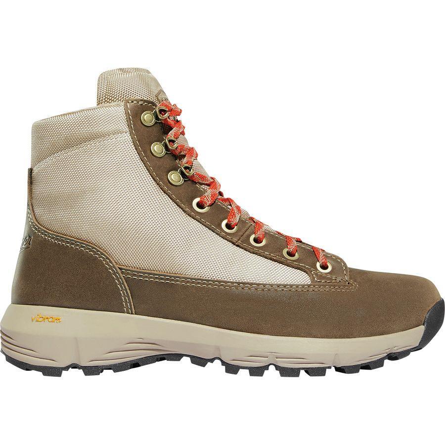 【マラソン ポイント10倍】(取寄)ダナー レディース エクスプローラ 650 ハイキング ブーツ Danner Women Explorer 650 Hiking Boot Birch/Burnt Orange Full Grain