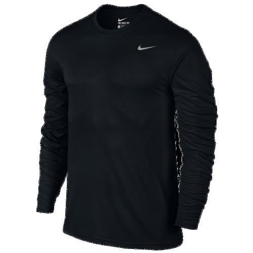 (取寄)ナイキ メンズ レジェンド 2.0 ロング スリーブ Tシャツ Nike Men's Legend 2.0 Long Sleeve T-Shirt Black Matte Silver