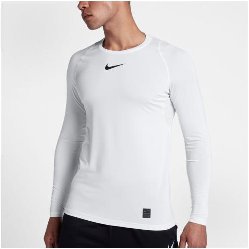 (取寄)ナイキ メンズ プロ フィッティド ロング スリーブ トップ Nike Men's Pro Fitted Long Sleeve Top White Black Black