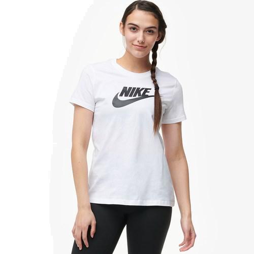 (取寄)ナイキ レディース エッセンシャル アイコン フューチュラ Tシャツ Nike Women's Essential Icon Futura T-Shirt White Black
