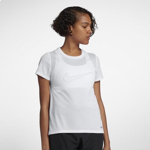 (取寄)ナイキ レディース ラン ショート スリーブ トップ Nike Women's Run Short Sleeve Top White White