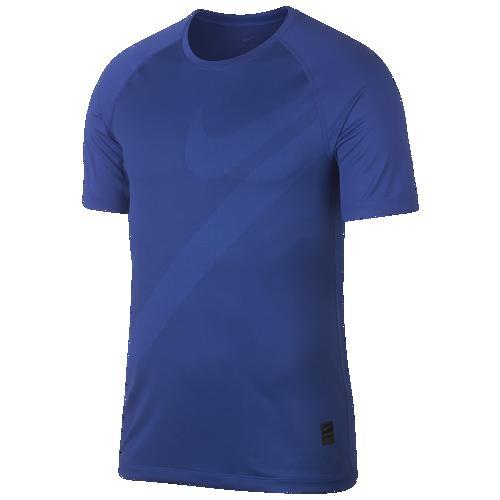 (取寄)ナイキ メンズ プロ フィッティド ショート スリーブ HBR トップ Nike Men's Pro Fitted Short Sleeve HBR Top Game Royal Blue Void Game Royal