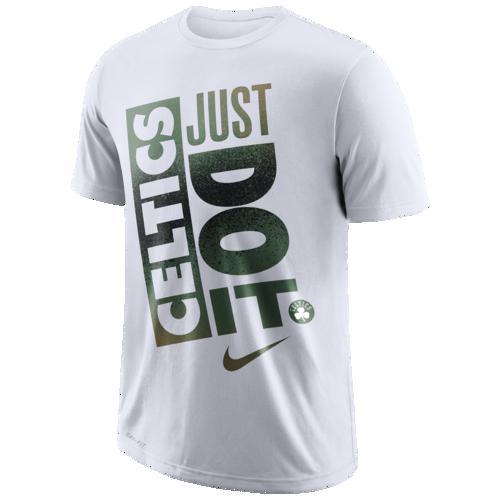 (取寄)ナイキ メンズ NBA ジャスト ドゥ It Mzo Tシャツ ボストン セルティックス Nike Men's NBA Just Do It Mzo T-Shirt White