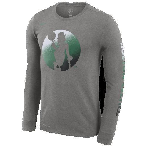 (取寄)ナイキ メンズ NBA Mzo ロゴ ロングスリーブ Tシャツ Nike Men's NBA Mzo Logo L/S T-Shirt Dark Grey Heather