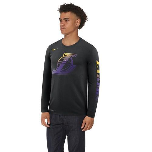 (取寄)ナイキ メンズ NBA Mzo ロゴ ロングスリーブ Tシャツ Nike Men's NBA Mzo Logo L/S T-Shirt Black