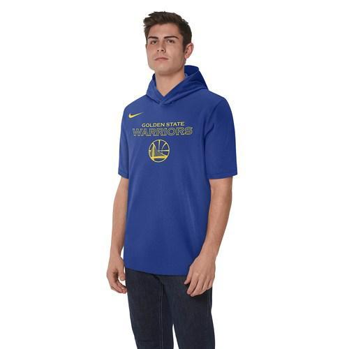 (取寄)ナイキ メンズ パーカー NBA プレミア コットン ロゴ ショートスリーブ フーディ Nike Men's NBA Premier Cotton Logo S/S Hoodie Rush Blue