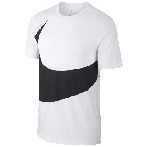 (取寄)ナイキ メンズ ラージ スウッシュ Tシャツ Nike Men's Large Swoosh T-Shirt White Black