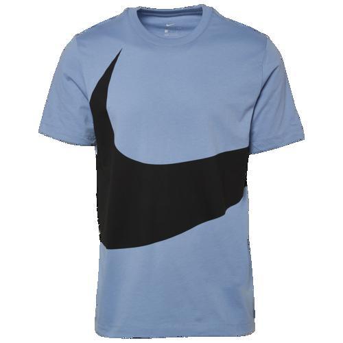 (取寄)ナイキ メンズ ラージ スウッシュ Tシャツ Nike Men's Large Swoosh T-Shirt Indigo Fog Black
