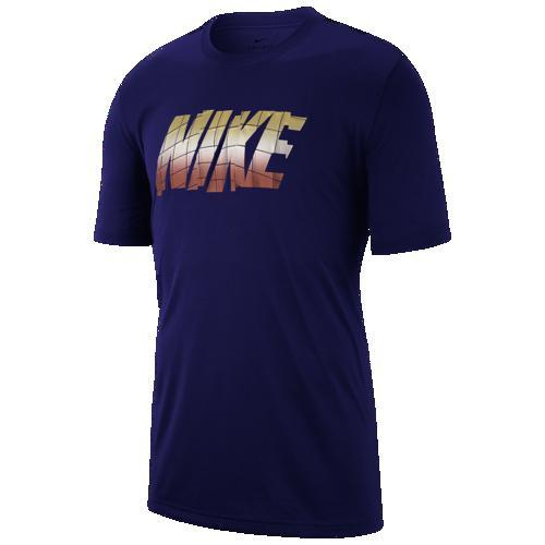 (取寄)ナイキ メンズ レジェンド ショート スリーブ ブロック Tシャツ Nike Men's Legend Short Sleeve Block T-Shirt Blue Void