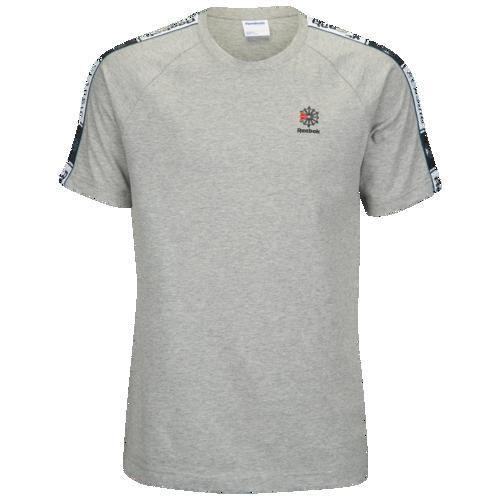 (取寄)リーボック メンズ テープド Tシャツ Reebok Men's Taped T-Shirt Medium Grey Heather
