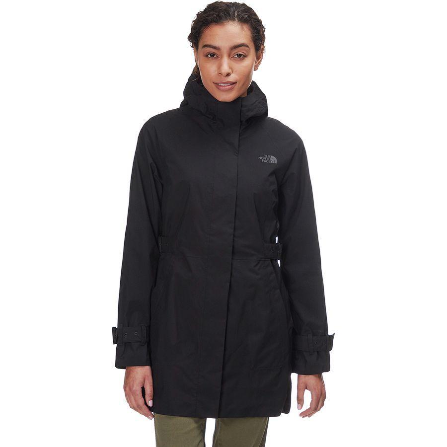 (取寄)ノースフェイス レディース シティ ブリーズ レイン トレンチ ジャケット The North Face Women City Breeze Rain Jacket Trench Tnf Black