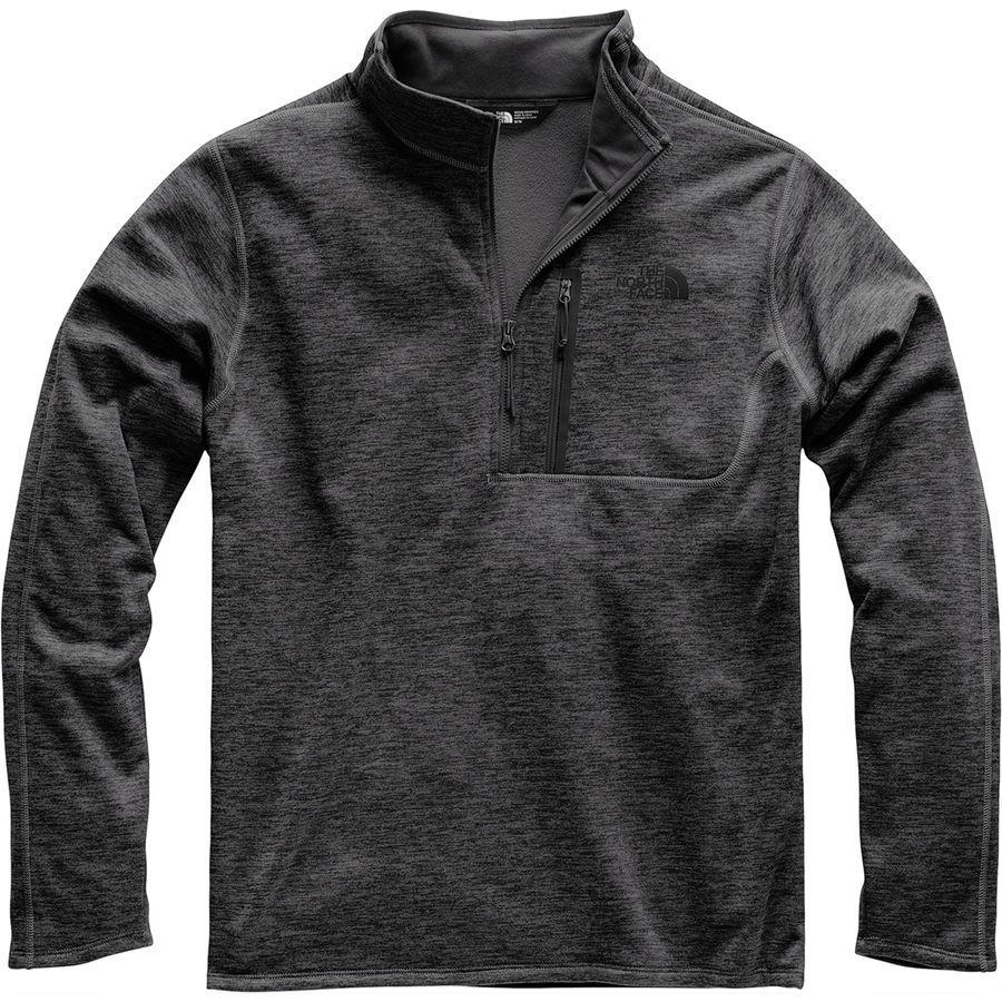 (取寄)ノースフェイス メンズ キャニオンランズ 1/2-Zipプルオーバー フリース ジャケット The North Face Men's Canyonlands 1/2-Zip Pullover Fleece Jacket Tnf Dark Grey Heather
