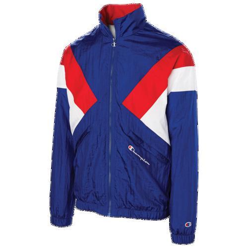 (取寄)チャンピオン メンズ ウォームアップ ジャケット Champion Men's Warm-Up Jacket Surf The Web Scarlet White