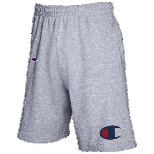 (取寄)チャンピオン メンズ ビッグ アンド トール ビッグ C ジャージー ショーツ Champion Men's Big And Tall Big C Jersey Shorts Grey Heather