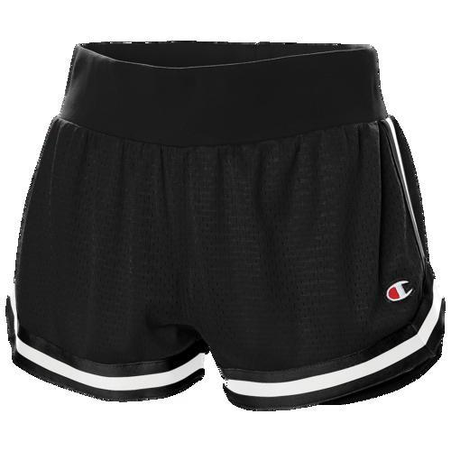 (取寄)チャンピオン レディース メッシュ ノッチ ショーツ Champion Women's Mesh Notch Shorts Black White