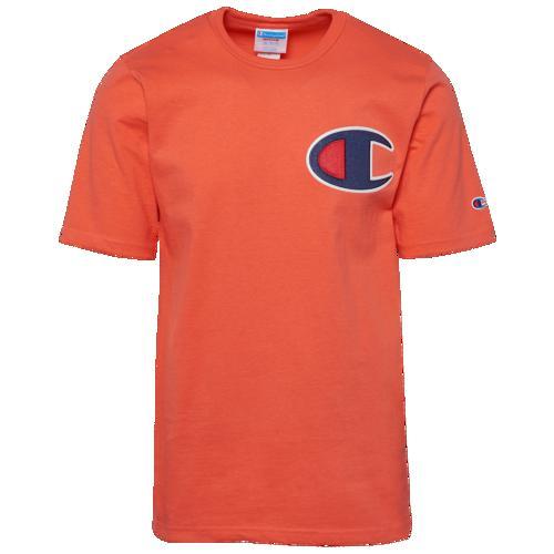 (取寄)チャンピオン メンズ ビッグ C Tシャツ Champion Men's Big C T-Shirt Groovy Papaya