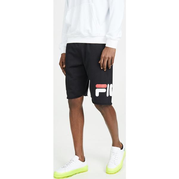 (取寄)フィラ ジョージ ロゴ スウェットショーツ FILA George Logo Sweatshorts Black