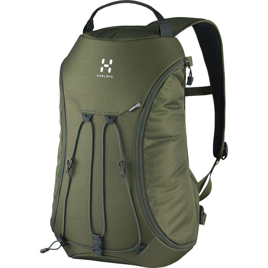 【クーポンで最大2000円OFF】(取寄)ホグロフス ユニセックス コーカー メディア 18L バックパック Haglofs Men's Corker Medium 18L Backpack Deep Woods
