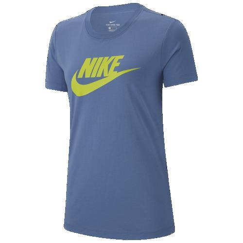 (取寄)ナイキ レディース エッセンシャル アイコン フューチュラ Tシャツ Nike Men's Essential Icon Futura T-Shirt Indigo Storm