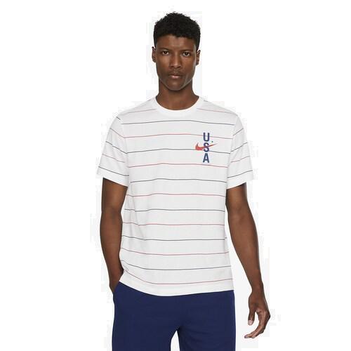 (取寄)ナイキ メンズ ドライフィット RWB AOP Tシャツ Nike Men's Dri-Fit RWB AOP T-Shirt White